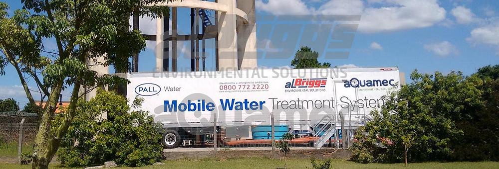 Estação móvel para tratamento de água