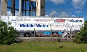 Sistema móvel para tratamento de água instalado no Sanep