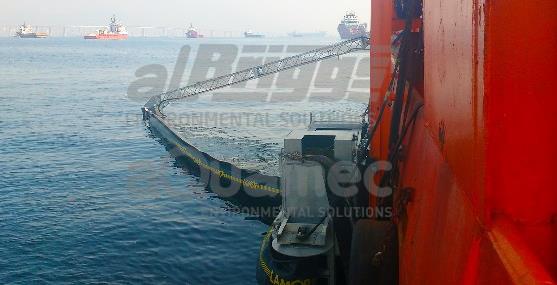 Sistema de contenção de óleo