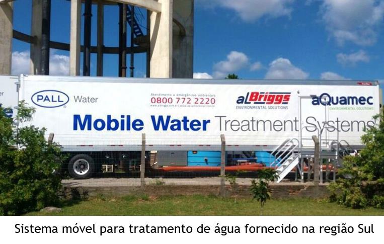 Sistema móvel para tratamento de água