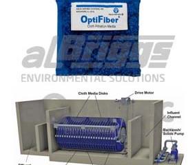 Remoção de microplástico com filtração terciária com filtros de tecido OptiFiber®