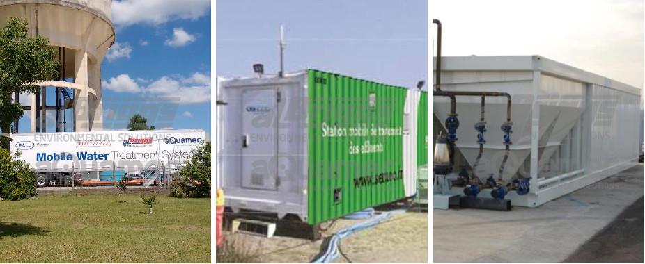 Unidades móveis e compactas para tratamento de água , chorume e efluentes