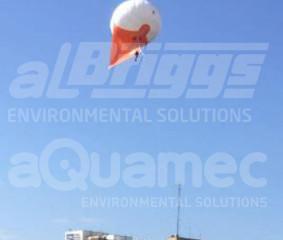 Monitoramento aéreo em tempo real de óleo derramado no mar