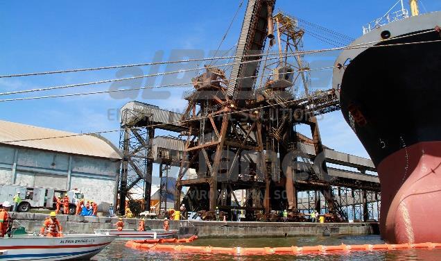 Simulado no porto