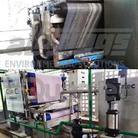 Substituição de equipamento para desidratação de lodo em indústria química