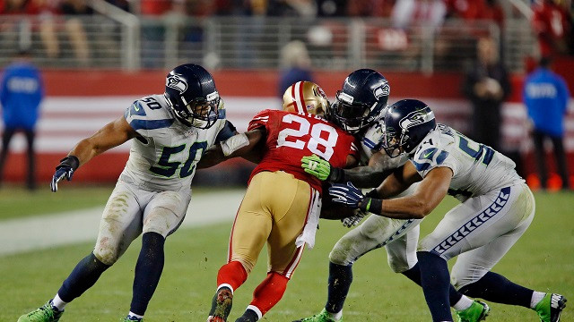 Seattle's Defense stuffed the Niners all night long to a 20-3 victory in Santa Clara.