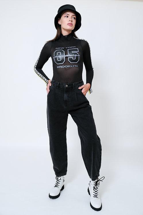 ג'ינס שחור רחב / Antigo