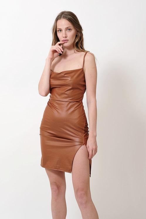 שמלת דמוי עור JESSICA