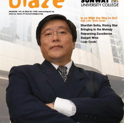 Sunway Blaze Magazine 3 (frontcover)