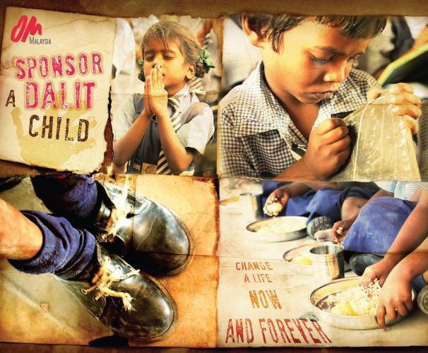OM Sponsor a Dalit (postcard)