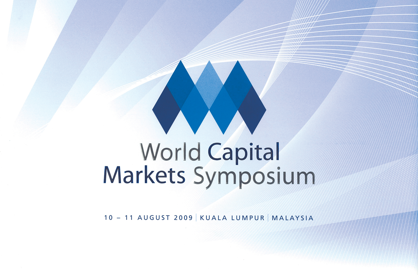 World Capital Markets Symposium 2009 Coffee Table Book (front cover)