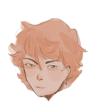 Boy with thick hair