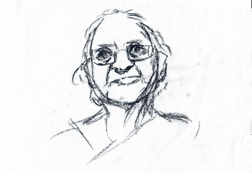 Old Indian lady (sketch)