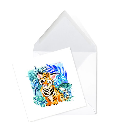 TIGER | x50 printed cards (14 x 14cms)