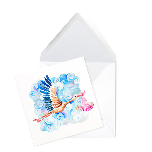 STORK | x50 printed cards (14 x 14cms)