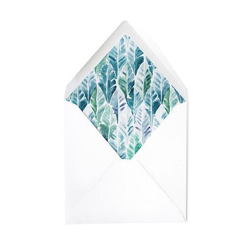 PALMS | x50 luxe envelopes (14 x 14cm)