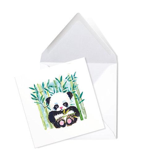 PANDA   x50 printed cards (14 x 14cms)