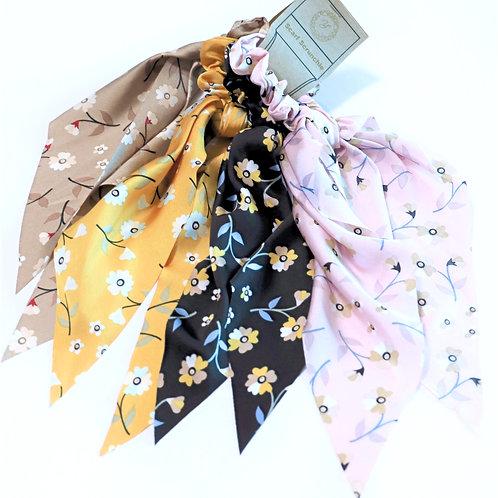 Scarf Scrunchie Small Flower Bundle