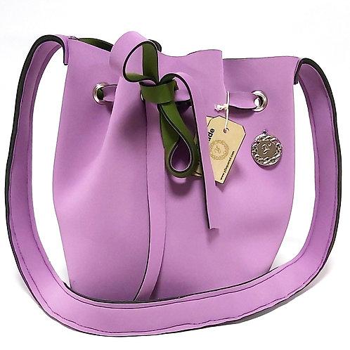 Lavender Neoprene Bucket Bag Front