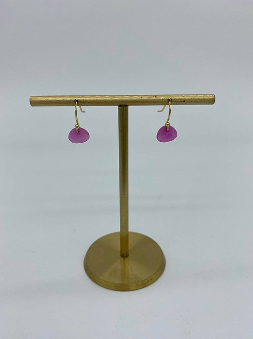 October - Pink Tourmaline Earring 8th Anniversary