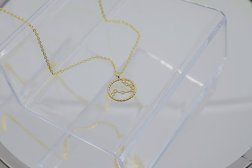 Gemini Zodiac Constellation Necklace