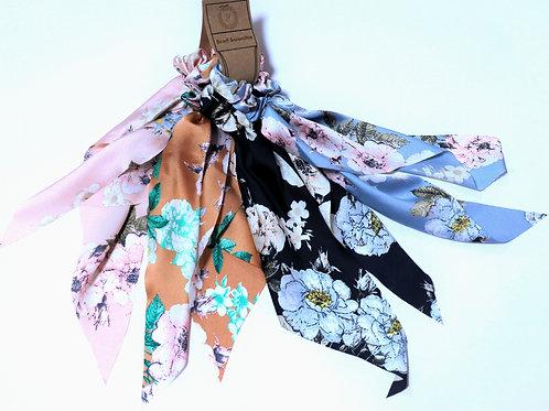 Scarf Scrunchies Large Flower Design Bundle