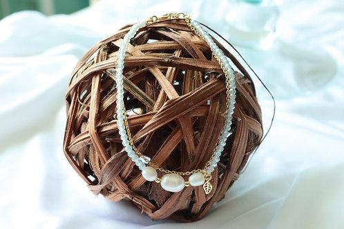Bead and Fresh Water Pearl Bracelet