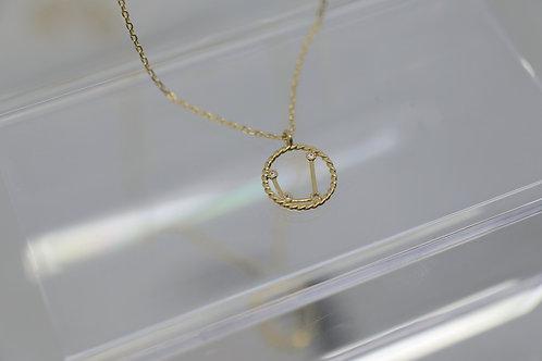 Aquarius Zodiac Constellation Necklace