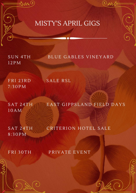 Sun 4th Blue GAbles Vineyard 12pm Fri 23