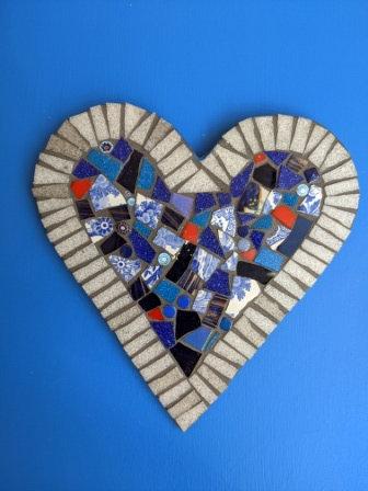 Blue Mosaic Heart - Dorothy