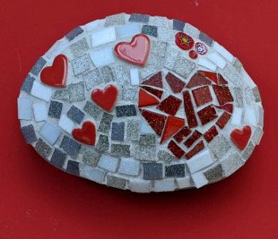Mosaic Stone: Hearts