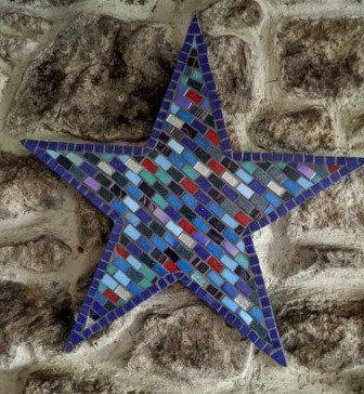 Stella -star mosaic wall art
