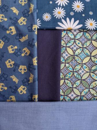 Blue Fabric Mask Selection