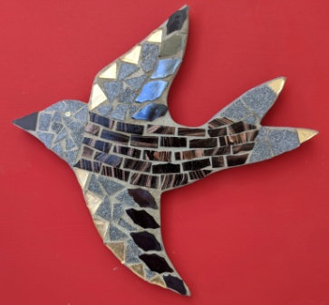 Goldie Mosaic Bird