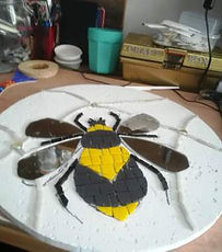 Mosaic bee in progess.jpg