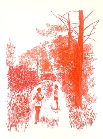 Escoltaven música al bosc