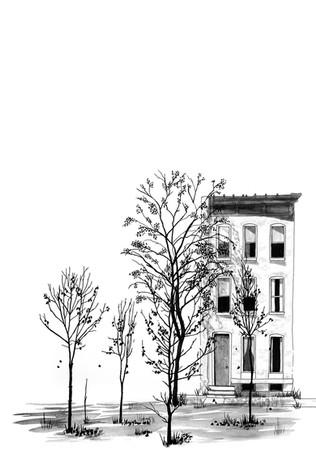 Quatre arbres esprimatxats