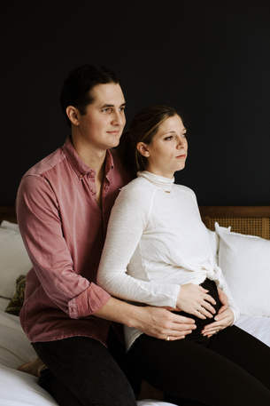 In home maternity session