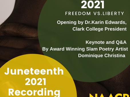 2021 Juneteenth Recording