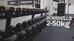 The Black Dumbbells at the Fitness Worx Gym in Bidford
