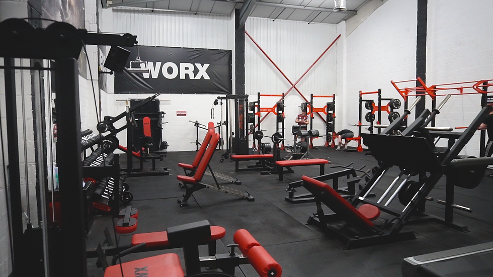 Fitness equipment and weightlifting machines inside of the Fitness Worx Gym in Southam