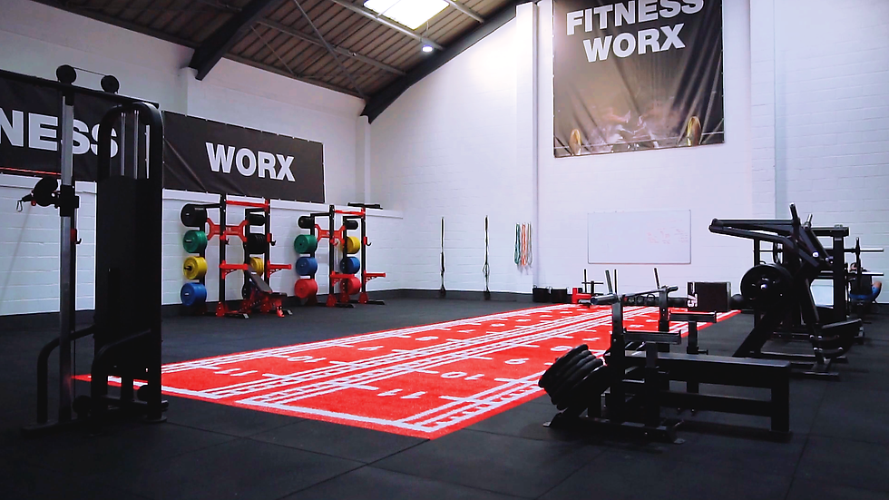 The Fitness Worx Bidford gym and all the weighlifting machines and equipment