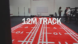A 12 metre red sled and prowler track at the Fitness Worx Gym in Bidford