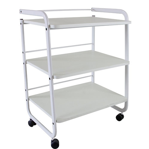 Basic Three Shelve Trolley w/ Back