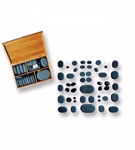 36 Hand Polished Basalt Stones Deluxe Set