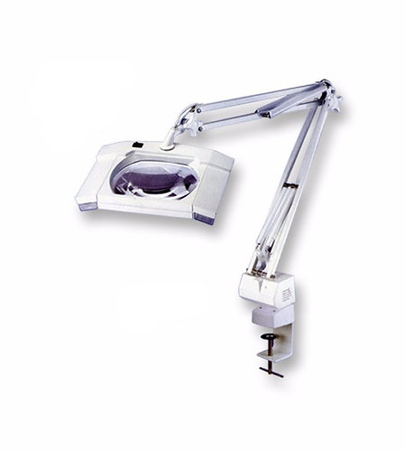 Square 7X Diapter Magnifier Tabletop Lamp