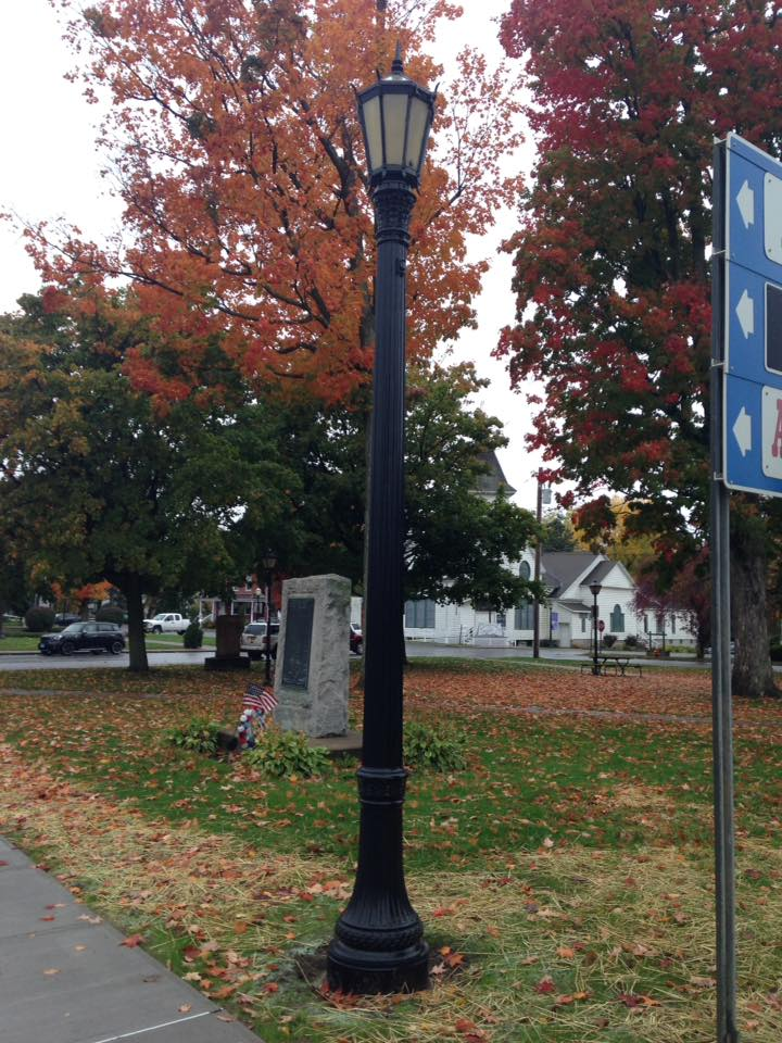 Painting of Light Poles Pulaski, NY