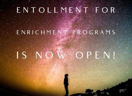 Enrollment Open for PTA Enrichment Programs!