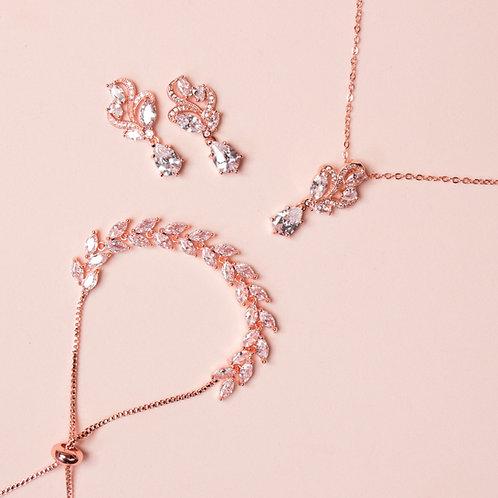 Set de joyería organico rose gold