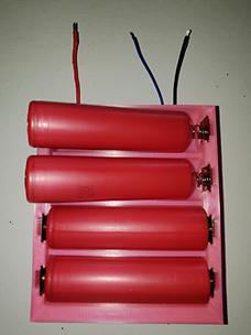 4P 18650 Battery Holder-Battery side(250